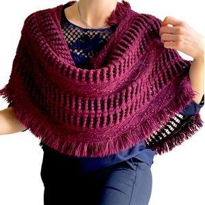 Incredibly soft burgundy wraparound shawl by sportsgirl